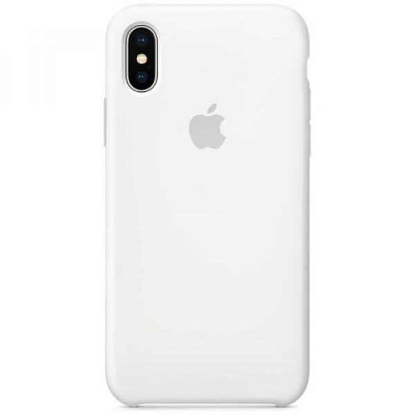 Чехол-накладка Apple iPhone X Silicone Case White (MQT22)