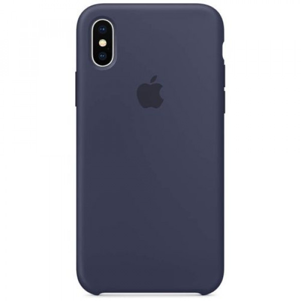 Чехол-накладка Apple iPhone X Silicone Case Midnight Blue (MQT32)
