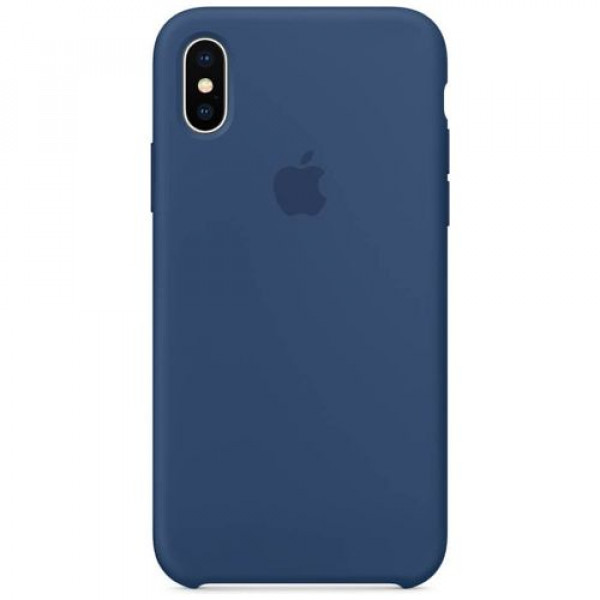 Чехол-накладка Apple iPhone X Silicone Case Blue Cobalt (MQT42)