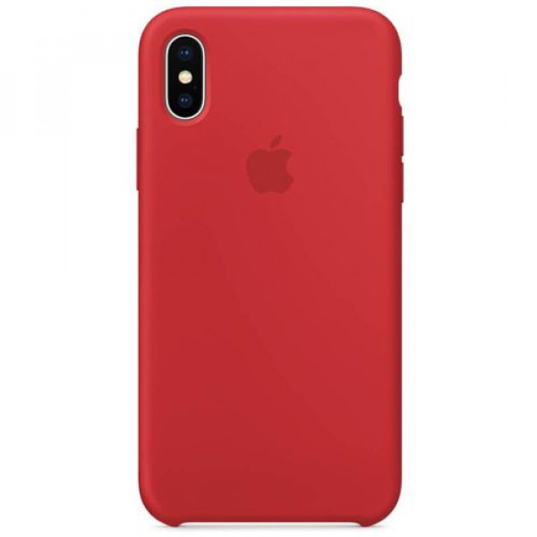 Чехол-накладка Apple iPhone X Silicone Case (PRODUCT) RED (MQT52)