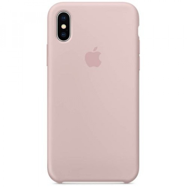 Чехол-накладка Apple iPhone X Silicone Case Pink Sand (MQT62)