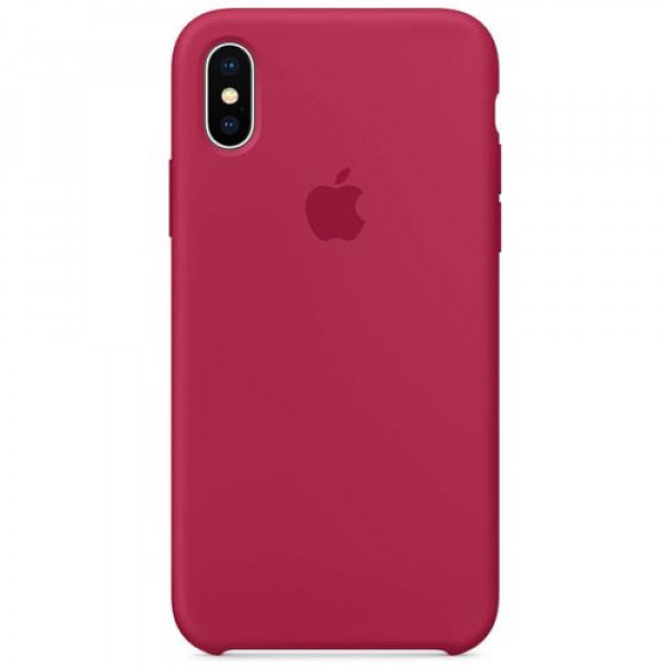 Чехол-накладка Apple iPhone X Silicone Case Rose Red (MQT82)