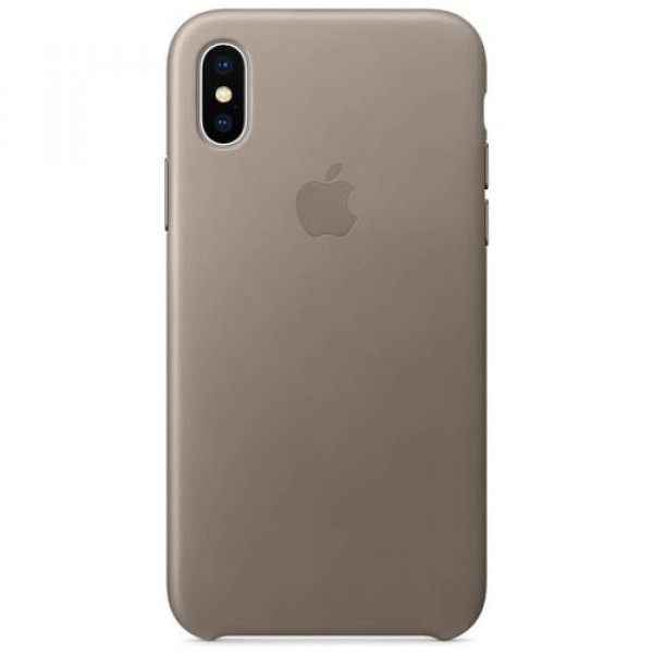 Чехол-накладка Apple iPhone X Leather Case Taupe (MQT92)