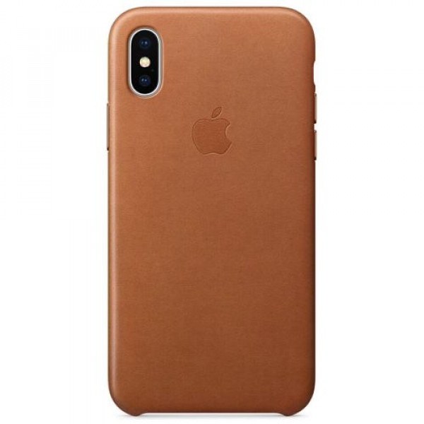 Чехол-накладка Apple iPhone X Leather Case Saddle Brown (MQTA2)