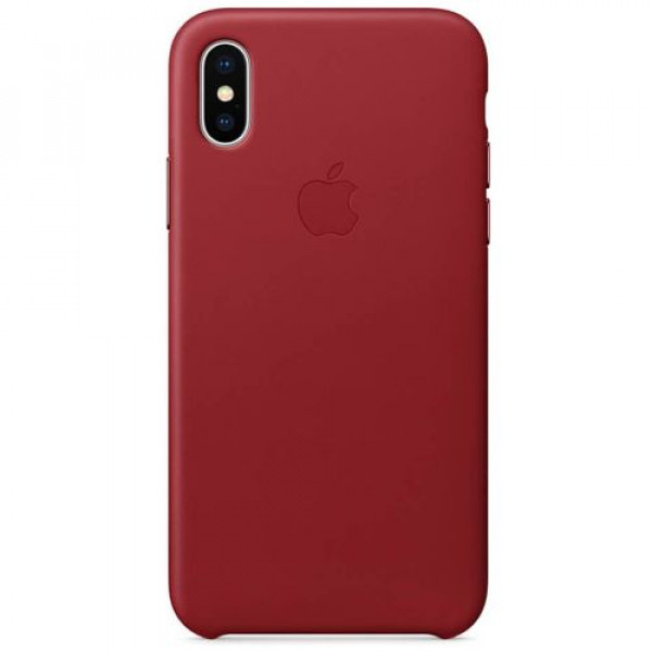 Чехол-накладка Apple iPhone X Leather Case (PRODUCT) RED (MQTE2)