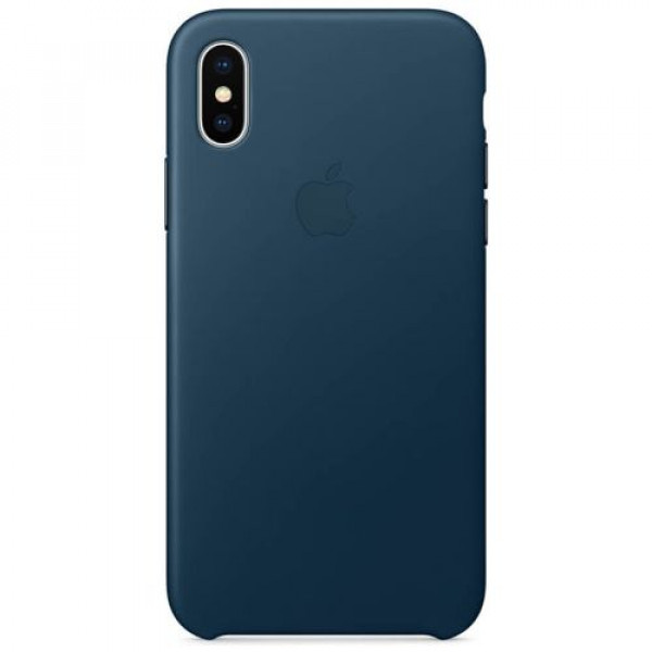 Чехол-накладка Apple iPhone X Leather Case Cosmos Blue (MQTH2)