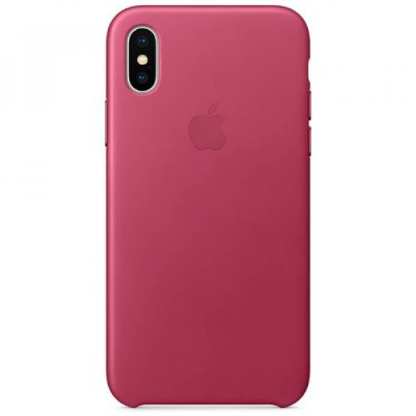 Чехол-накладка Apple iPhone X Leather Case Pink Fuchsia (MQTJ2)