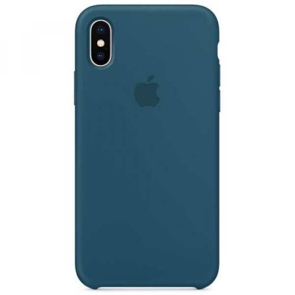 Чехол-накладка Apple iPhone X Silicone Case Cosmos Blue (MR6G2)