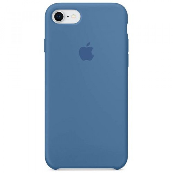 Чехол-накладка Apple iPhone 8/7 Silicone Case Denim Blue (MRFR2)