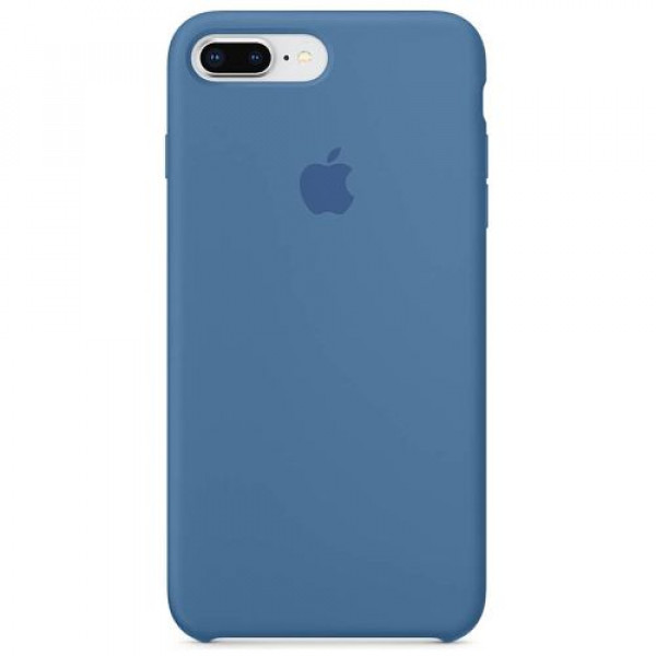 Чехол-накладка Apple iPhone 8Plus/7Plus Silicone Case Denim Blue (MRFX2)