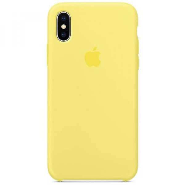 Чехол-накладка Apple iPhone X Silicone Case Lemonade (MRG32)
