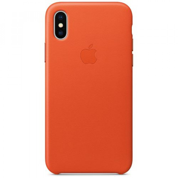 Чехол-накладка Apple iPhone X Leather Case Bright Orange (MRGK2)