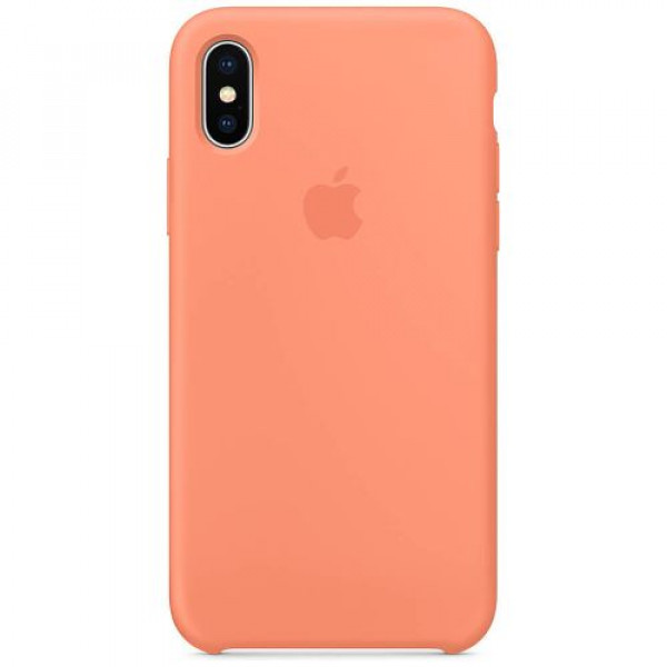 Чехол-накладка Apple iPhone X Silicone Case Peach (MRRC2)