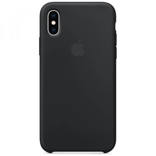 Чехол-накладка Apple iPhone XS Silicone Case Black (MRW72)