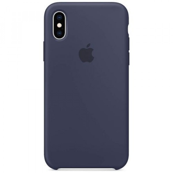 Чехол-накладка Apple iPhone XS Silicone Case Midnight Blue (MRW92)