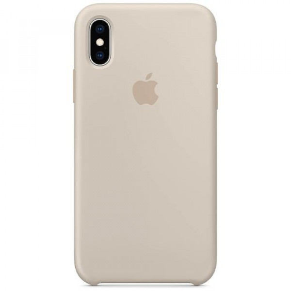 Чехол-накладка Apple iPhone XS Silicone Case Stone (MRWD2)