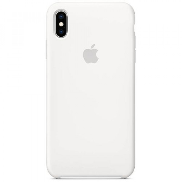 Чехол-накладка Apple iPhone XS Max Silicone Case White (MRWF2)