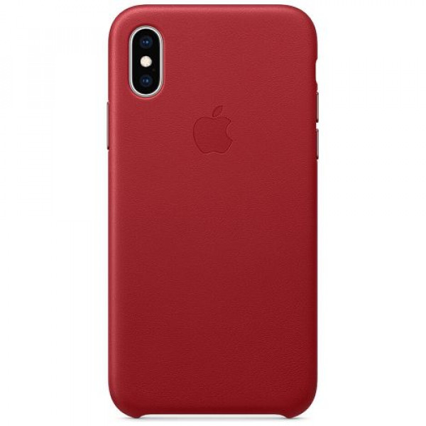 Чехол-накладка Apple iPhone XS Leather Case (PRODUCT)RED (MRWK2)