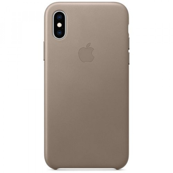 Чехол-накладка Apple iPhone XS Leather Case Taupe (MRWL2)