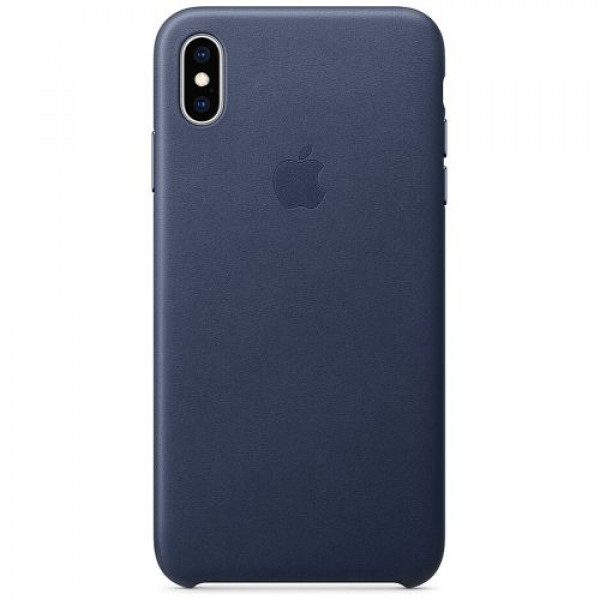 Чехол-накладка Apple iPhone XS Max Leather Case Midnight Blue (MRWU2)