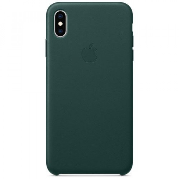 Чехол-накладка Apple iPhone XS Max Leather Case Forest Green (MTEV2)