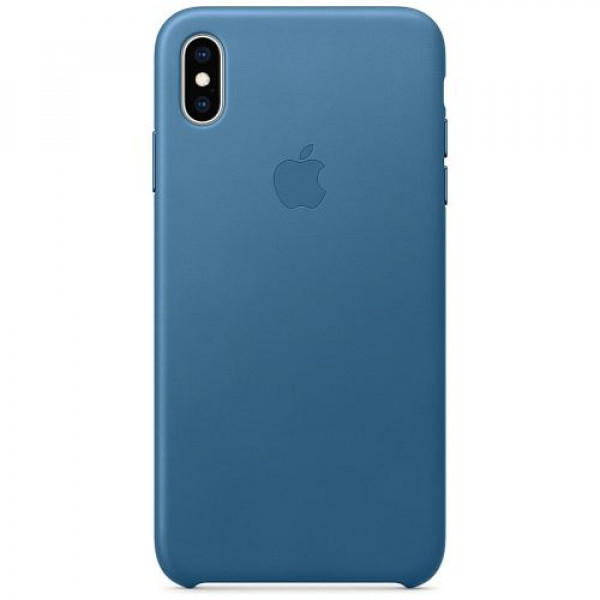 Чехол-накладка Apple iPhone XS Max Leather Case Cape Cod Blue (MTEW2)