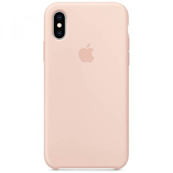 Чехол-накладка Apple iPhone XS Silicone Case Pink Sand (MTF82)