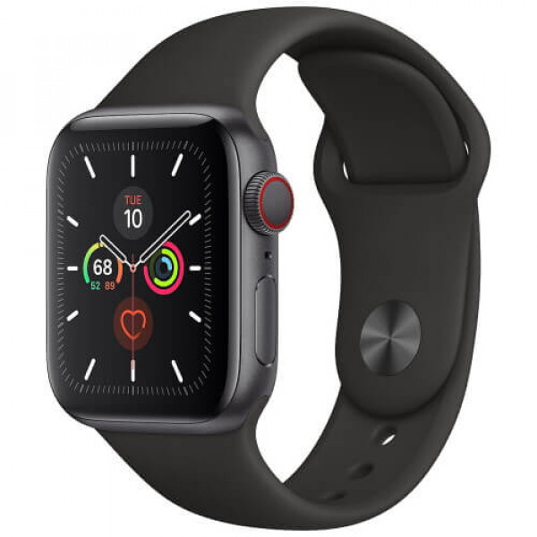 Apple WATCH Series 5 40mm Space Gray GPS + Cellular Aluminium Case with Black Sport Band (MWWQ2)