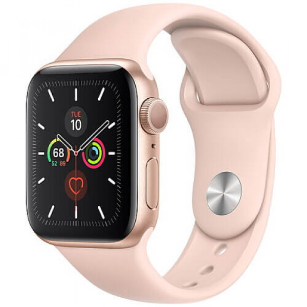Apple WATCH Series 5 40mm Gold GPS Aluminium Case with Pink Sport Band (MWV72)