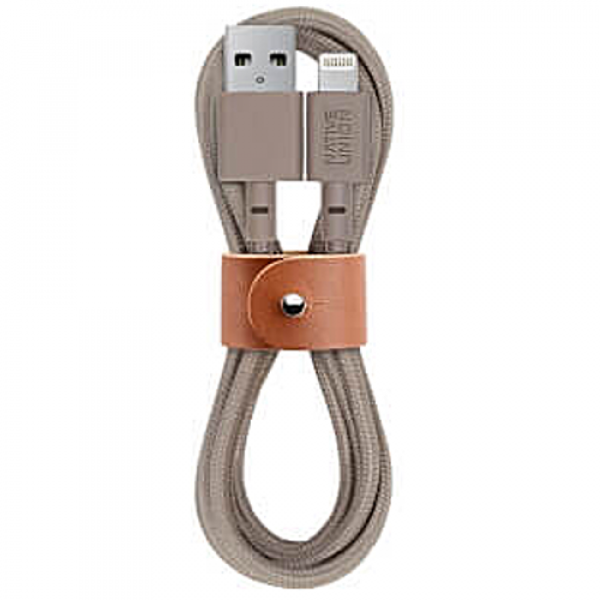 Кабель NATIVE UNION Belt Cable Lightning Taupe (1.2 m) (BELT-KV-L-TAU-2)