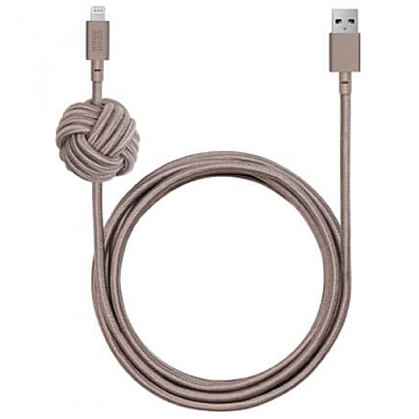 Кабель NATIVE UNION Night Cable Lightning Taupe (3 m) (NCABLE-KV-L-TAU)