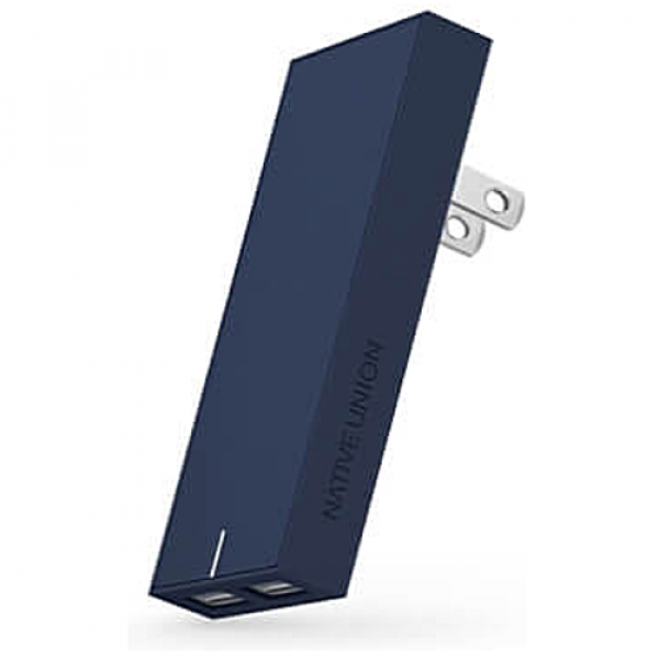 Сетевое зарядное устройство NATIVE UNION Smart Charger 2-Port USB Fabric Marine (SMART-2-MAR-FB-INT)