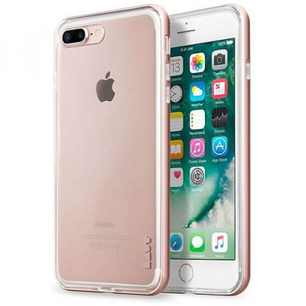 Чехол-бампер LAUT EXO-FRAME for iPhone 7Plus/8Plus rose gold (LAUT_IP7P_EX_RG)