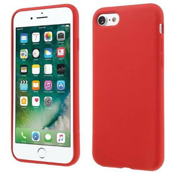 Чехол-накладка COTEetCI Silicone Case for iPhone 7Plus/8Plus Red