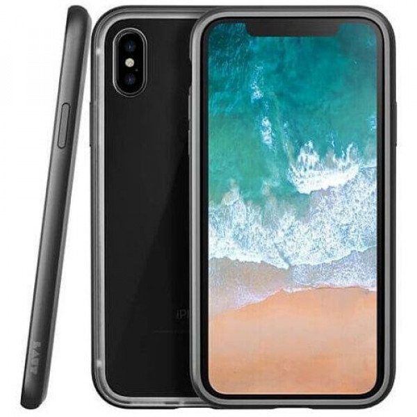 Чехол-бампер LAUT EXO-FRAME for iPhone X Gun Metall (LAUT_IP8_EXI_GM)