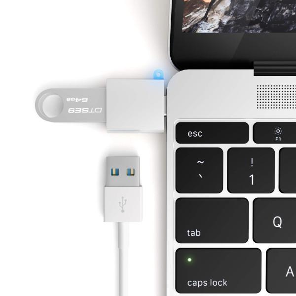 Адаптер Satechi Type-C USB Adapter Silver (ST-TCUAS)