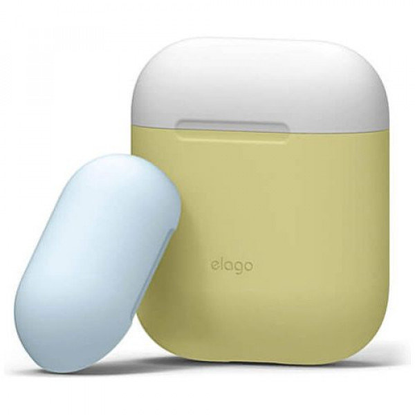 Чехол для наушников Elago Duo Case Yellow/White/Pastel Blue for Airpods (EAPDO-YE-WHPB)
