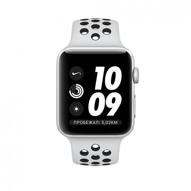 Apple WATCH Nike+ GPS, 42mm Silver Aluminum Case with Pure Platinum/Black Nike Sport Band (MQL32)