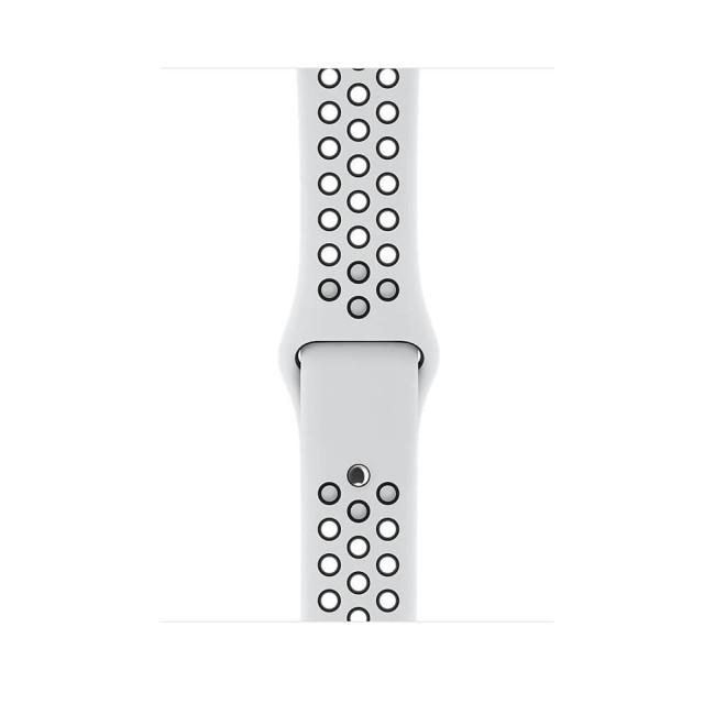 Apple WATCH Nike+ GPS, 38mm Silver Aluminium Case with Pure Platinum/Black Nike Sport Band (MQKX2)