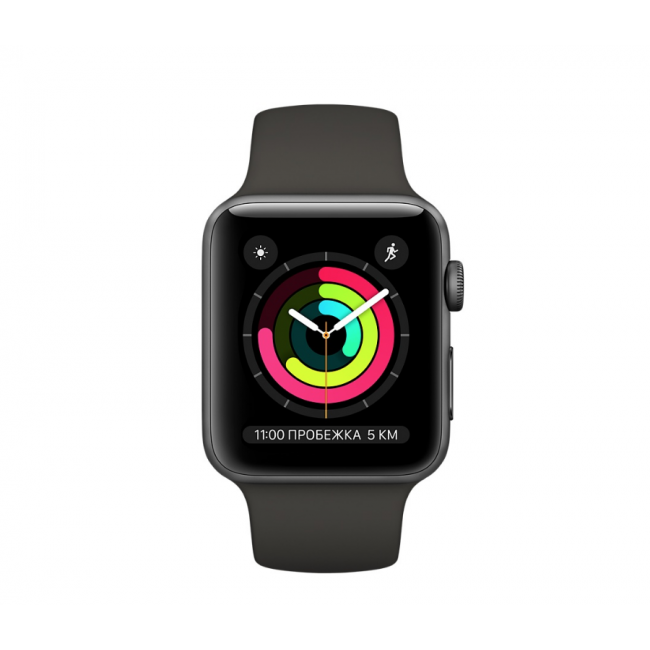 Apple WATCH Series 3, 42mm Space Gray Aluminium Case with Gray Sport Band (MR362)