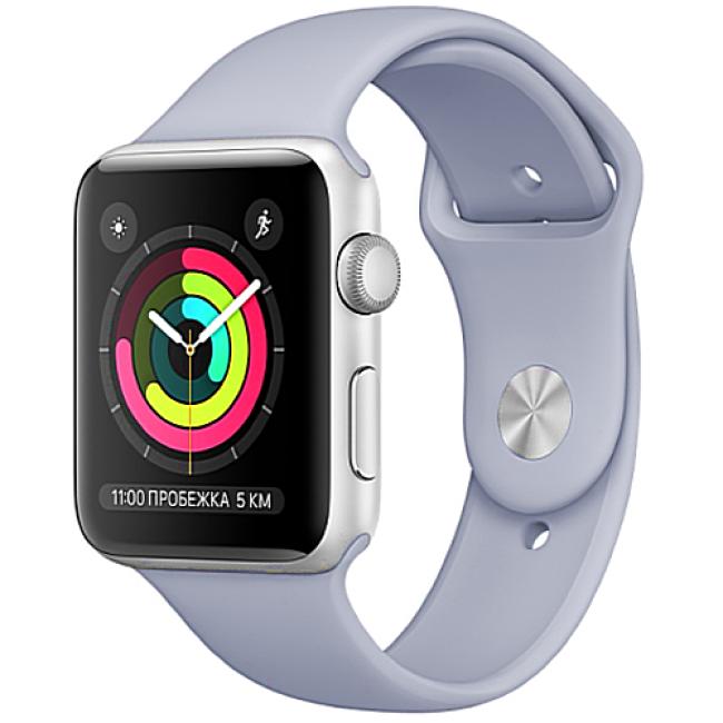 Apple WATCH Series 3, 42mm Silver Aluminium Case with Fog Sport Band (MQL02)