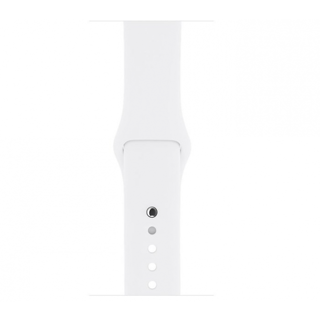 Apple WATCH Series 2, 42mm Silver Aluminium Case with White Sport Band (MNPJ2)
