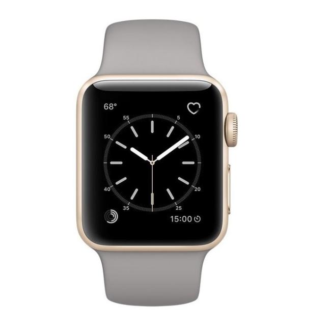 Apple WATCH Series 2, 38mm Gold Aluminium Case with Concrete Sport Band (MNP22)
