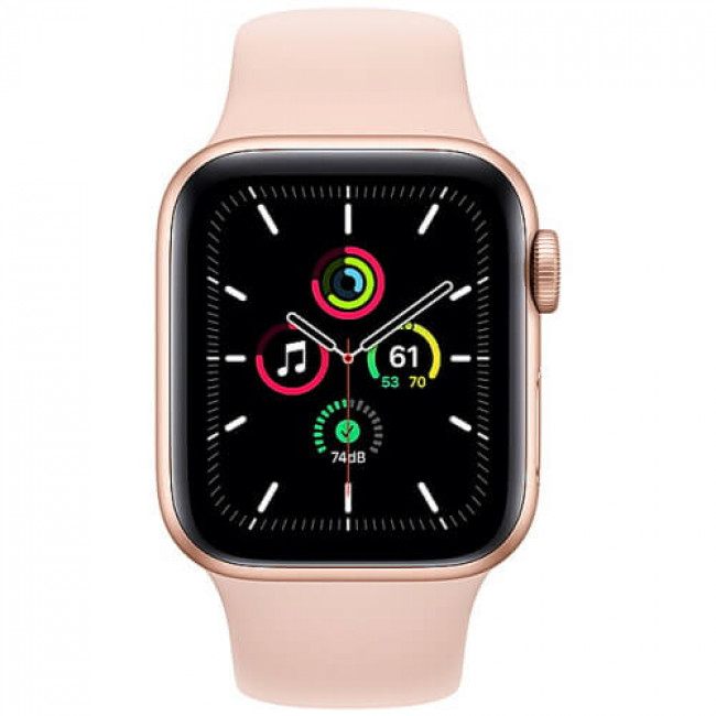 Apple WATCH SE 44mm Gold Aluminium Case with Pink Sport Band (MYDR2)