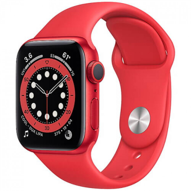 Apple WATCH Series 6 40mm Red Aluminium Case with (PRODUCT)RED Sport Band (M00A3)