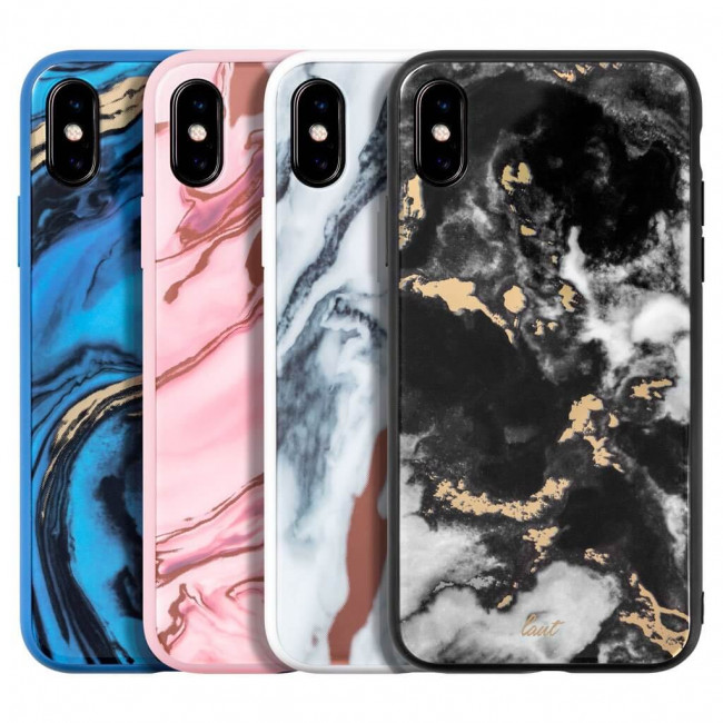 Чехол-накладка LAUT MINERAL GLASS for iPhone X/XS Marble Pink (LAUT_IP18-S_MG_MP)