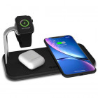 Беспроводное зарядное устройство Zens Dual Aluminium Wireless Charger + Apple Watch 10W Black (ZEDC05B/00)