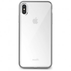 Чехол-накладка Moshi Vitros Slim Clear Case Jet Silver for iPhone XS Max (99MO103203)