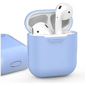 Чехол для наушников AhaStyle Silicone Case for AirPods Sky Blue (X001CWRP4P)
