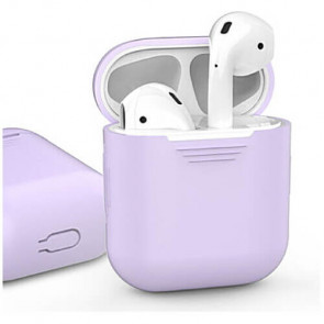 Чехол для наушников AhaStyle Silicone Case for AirPods Lavender (X0024LOD57)